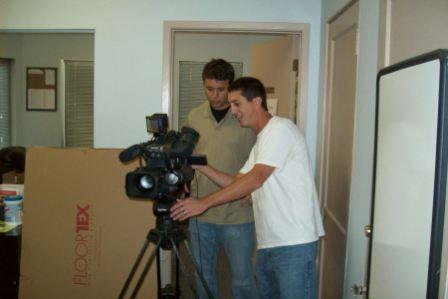 Videographer Mike Martin and his Assistant Tom