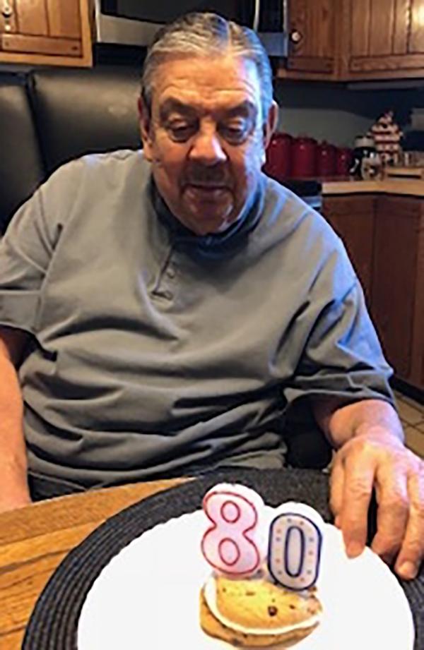 aging man's 80th birthday