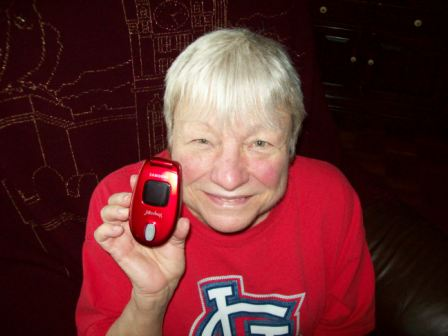 Mary Ann and her Jitterbug phone